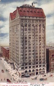 Masonic Temple, Chicago, Illinois, Early Postcard, Used in 1907