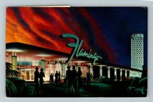 Las Vegas NV- Nevada, The Hotel Flamingo, Chrome Postcard