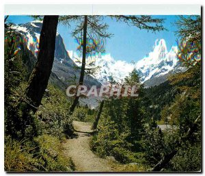 Postcard Modern Montebelloweg put Berninagruppe