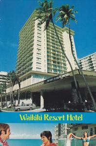 Swimming Pool, The Waikiki Resort Hotel, Waikiki, Oahu, Hawaii, PU-1971