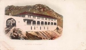 Tavern of Tamalpais and Train Tracks, Mt. Tamalpais, CA, Early Postcard, Unused