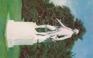 Virginia Charlottesville James Monroe Statue At Ash Lawn