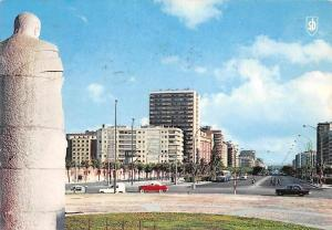 Spain Madrid Avda. del Generalisimo from Castle Square Vintage Cars Voitures