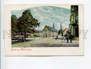 3173897 GERMANY GRUSS aus Aue i Erzgeb Vintage litho postcard