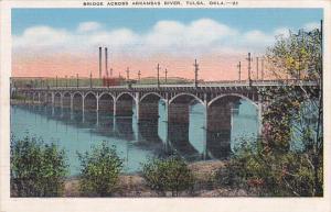 Bridge across Arkansas River, TULSA, Oklahoma, 30-40s