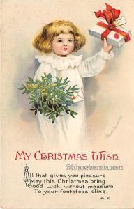Christmas  Ellen H Clapsaddle International Art Publishing Co. Writing on back