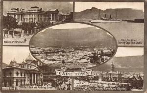 South Africa Cape Town multi views postcard