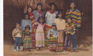 Seminole Indian Children at Tropical Hobbyland Miami Florida