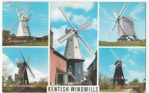 Kent; Kentish Windmills Multiview PPC by  J Salmon, Unposted - Meopham, Sandwich