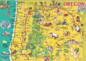 Oregon With Pictorial Visitor's Map 2005