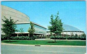 CHARLOTTE, North Carolina NC  Coliseum & OVENS AUDITORIUM c1960s  Postcard
