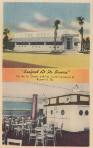 BRUNSWICK, Georgia, 1930-40s; The Deck, Seafood at its Source, On the St. S...