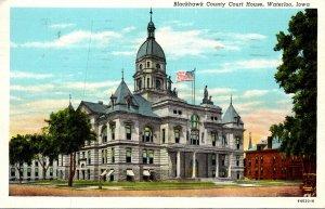 Iowa Waterloo Blackhawk County Court House 1941 Curteich