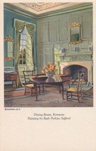 Painting of Kenmore Dining Room Fredericksburg Virginia a/s Ruth Perkins Safford