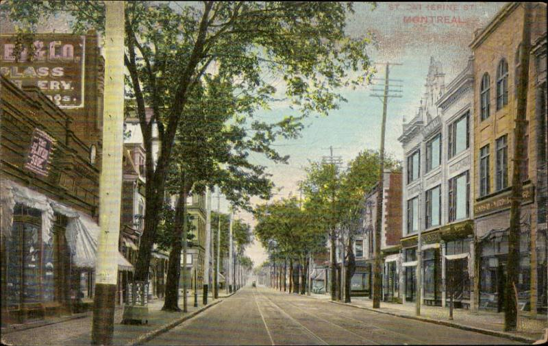 St Catherine Montreal Canada The Slater Shoe store reclam advert cigars Shipsons