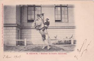 SAUMAR, Maine et Loire, France, PU-1907; Sauter en liberte. Courbette