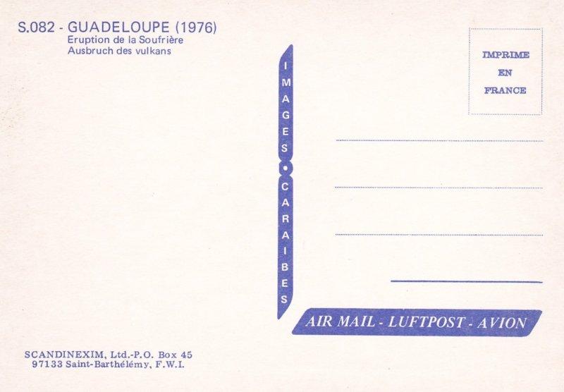 GUADELOUPE (1976) , Eruption de la Soufriere, Ausbruch des vulkans, Volcano