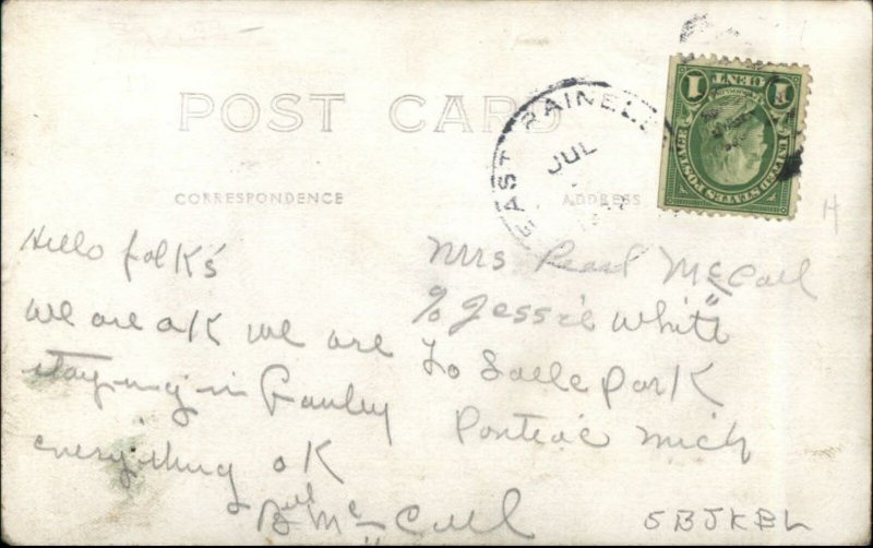 Social History Bonus Army BEF Camp Washington DC 1932 RPPC Pay WWI Vets #2