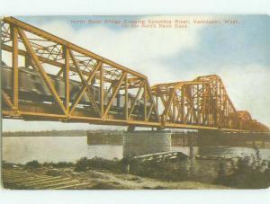 Unused Divided-Back BRIDGE SCENE Vancouver Washington WA HJ0408