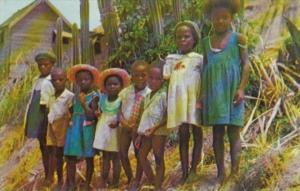 Barbados Belleplane St Andrew Group Of Native Children 1962