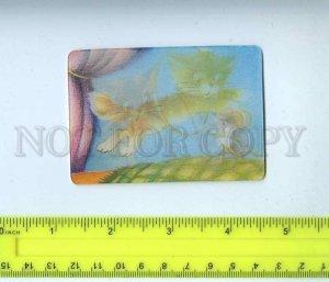 259161 USSR Akulinichev cat mouse Cartoon lenticular 3-D Pocket CALENDAR 1986 y