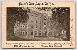 Kansas City MO~Linwood Presbyterian Home~Convalescent & Working Women~1937 Adv