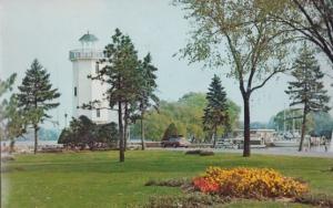 Lakeside Park Yacht Club Lighthouse Wisconsin Postcard