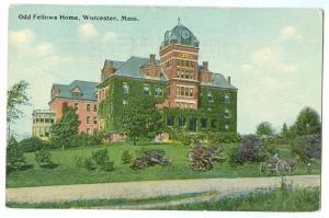 USA, Odd Fellows Home, Worcester, Mass, 1914 used Postcard