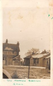 br108319 married quarters grain  uk real photo