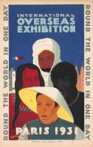 International Overseas Exhibition 1931, Paris, France, Early Postcard, Unused