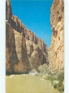 Pre-1980 RIVER SCENE Big Bend National Park - Terlingua Texas TX AE6143