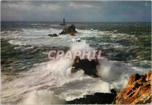 Modern Postcard Pointe du Raz and La Vieille one day storm