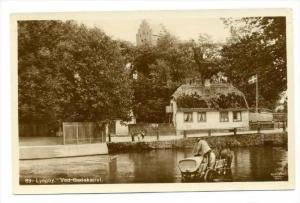 RP: Lyngby , Denmark , 00-10s   Men refilling horsedrawn water tank wagon in ...