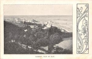 England Isle of Man, Ramsey, coast aerial view, seashore, beach plage strand