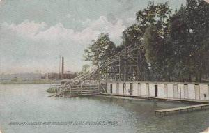 Michigan Hillsdale Bathing Houses And Toboggan Slide