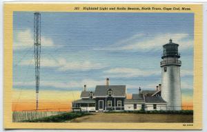 Highland Lighthouse Radio Beacons North Truro Cape Cod Massachusetts postcard
