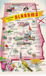Greetings From Alabama With Map