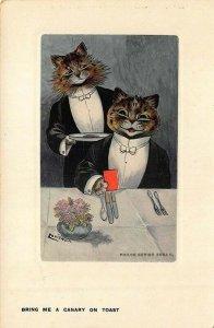 Louis Wain Philco Series 2084 F. Bring Me A Canary On Toast Postcard