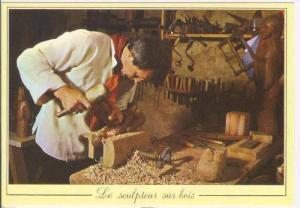 LES METIERS D´ANTAN, Le sculpteur sur bois, France, 60-70s