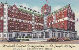 Michigan St Joseph Whitcomb Sulphur Springs Hotel Curteich
