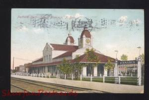 BISMARCK NORTH DAKOTA NORTHERN PACIFIC RAILROAD DEPOT VINTAGE POSTCARD ND