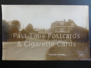 Kent: Bromley Keston The Fox Inn RP c1917 shows HORSE & CARTS / OLD COTTAGE TEAS