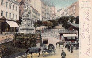 Karlsbad Marketplace, Schlossberg, Graz, Austria, 1901 Postcard, Used