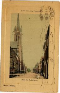 CPA Douchy-Rue de Frileuses (264955)