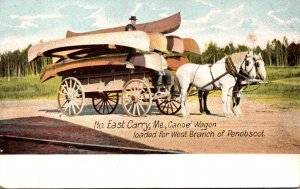 Maine North East Carry Canoe Wagon Loaded For West Branch Of Penobscot