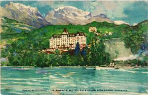 CPA Sue-le-Lac-d'ANNECY - Le Palace Hotel a MENTHON St-BERNARD (Hte-S. (439968)