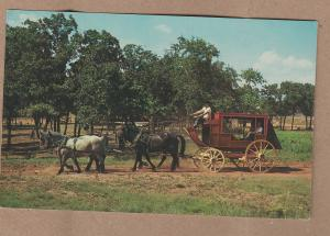 Old-Time Stagecoach Postcard Horses Frontier City USA, Oklahoma