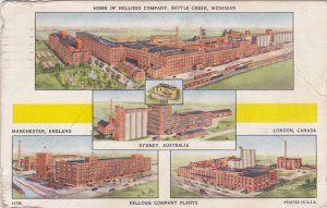 BATTLE CREEK, Home of Kellogg Company, Manchester, England; Sydney, Australia...