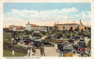 Wenonah Park and Hotel, Bay City, Michigan, Early Postcard, Used in 1917
