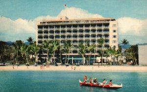 Waikiki, Hawaii, HI, The Surf Rider Hotel, 1953 Chrome Vintage Postcard g8359